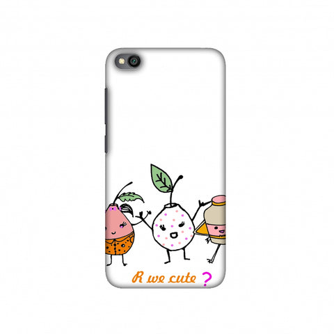 Are we cute? Slim Hard Shell Case For Redmi Go