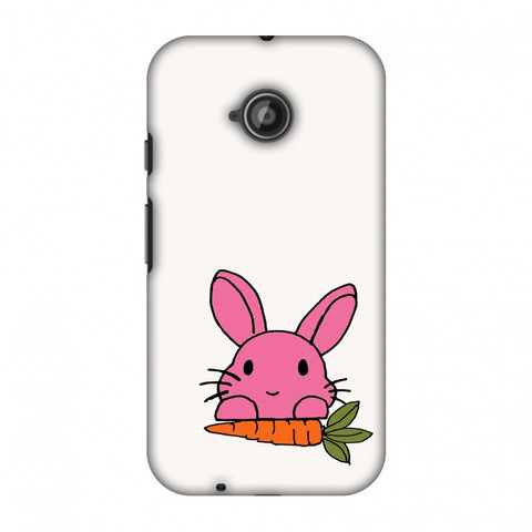 Carrot My Favourite - White Slim Hard Shell Case For Motorola Moto E 2nd Gen