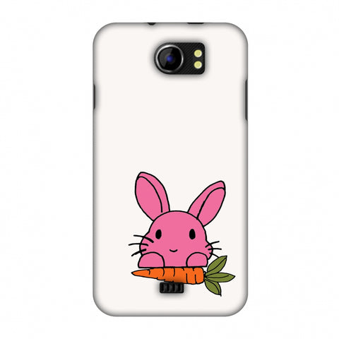 Carrot My Favourite - White Slim Hard Shell Case For Micromax Canvas 2 A110