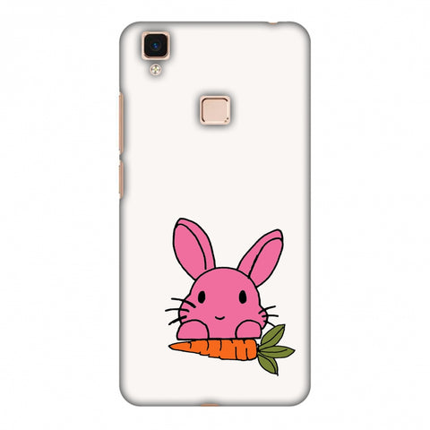 Carrot My Favourite - White Slim Hard Shell Case For Vivo V3 Max
