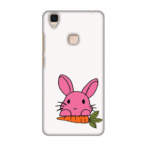 Carrot My Favourite - White Slim Hard Shell Case For Vivo V3