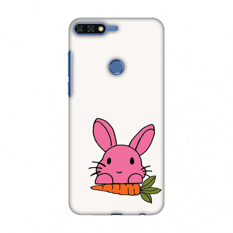 Carrot My Favourite - White Slim Hard Shell Case For Huawei Honor 7C
