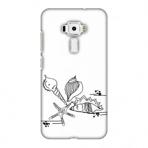 Sea Shells - Transparent Slim Hard Shell Case For Asus Zenfone 3 ZE520KL