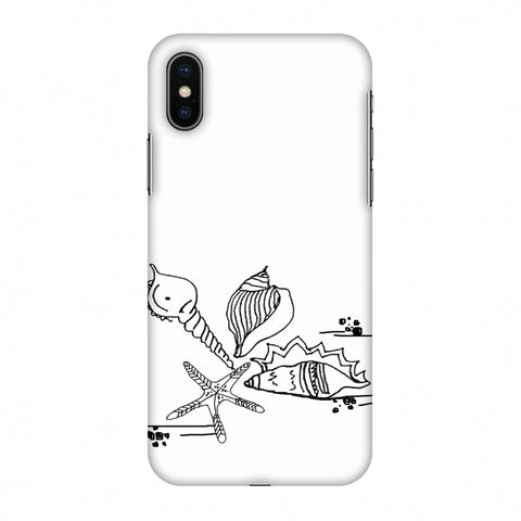 Sea Shells - Transparent Slim Hard Shell Case For Apple iPhone X