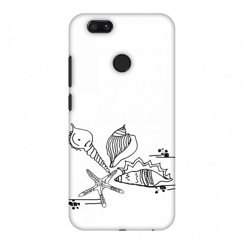 Sea Shells - Transparent Slim Hard Shell Case For Xiaomi MI A1-5X