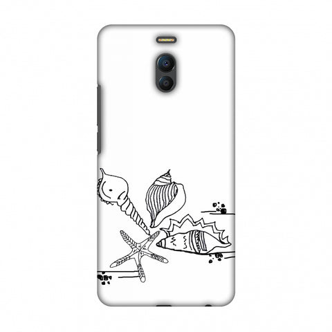 Sea Shells - Transparent Slim Hard Shell Case For Meizu Note 6