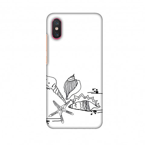 Sea Shells - Transparent Slim Hard Shell Case For Xiaomi Mi 8 Pro