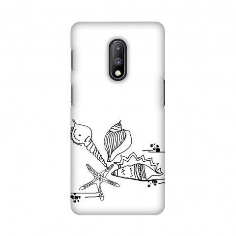 Sea Shells Slim Hard Shell Case For OnePlus 7