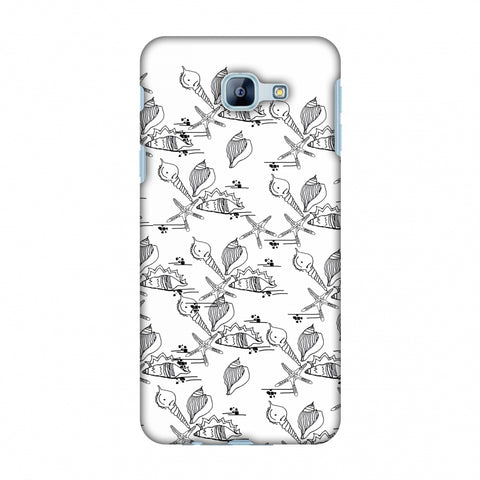 Sea Shells Repeat Slim Hard Shell Case For Samsung Galaxy A8 2016