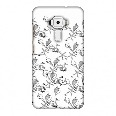 Sea Shells Repeat Slim Hard Shell Case For Asus Zenfone 3 ZE520KL