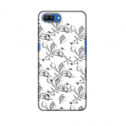 Sea Shells Repeat Slim Hard Shell Case For Oppo Realme C1