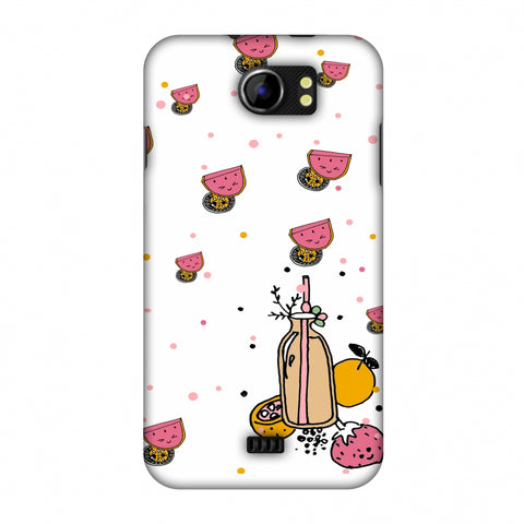 Fruity Shake - White Slim Hard Shell Case For Micromax Canvas 2 A110