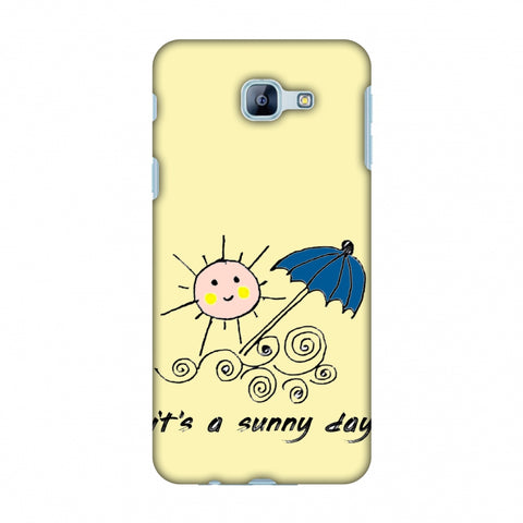 Sunny Day - Yellow Slim Hard Shell Case For Samsung Galaxy A8 2016