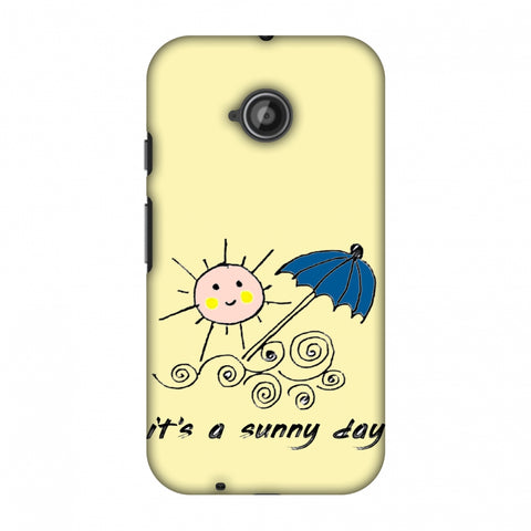 Sunny Day - Yellow Slim Hard Shell Case For Motorola Moto E 2nd Gen