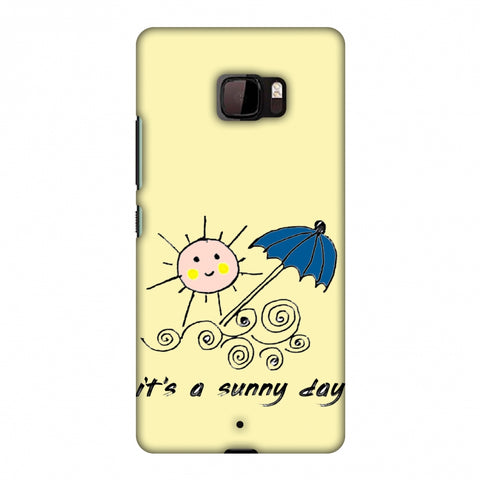Sunny Day - Yellow Slim Hard Shell Case For HTC U Ultra