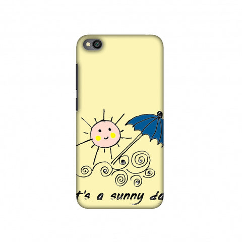 Sunny day- Yellow Slim Hard Shell Case For Redmi Go