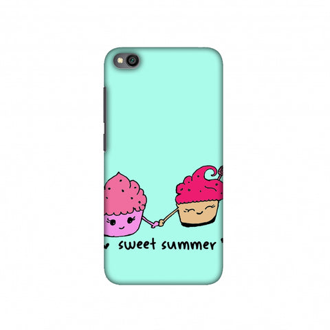 Sweet summer- Blue Slim Hard Shell Case For Redmi Go