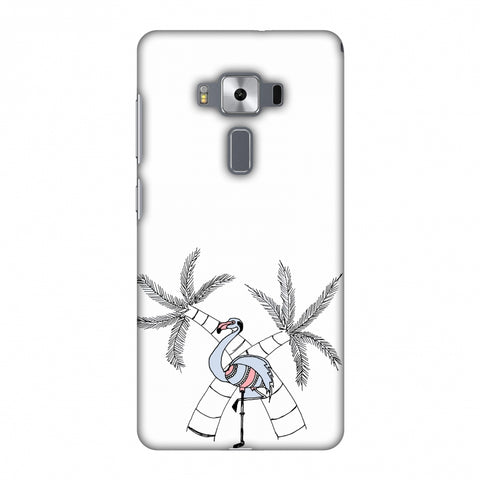 Flamingo And Palm Trees Slim Hard Shell Case For Asus Zenfone 3 Deluxe ZS570KL