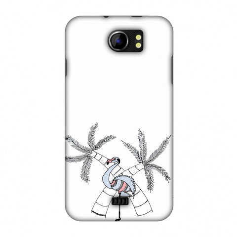 Flamingo And Palm Trees Slim Hard Shell Case For Micromax Canvas 2 A110