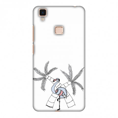 Flamingo And Palm Trees Slim Hard Shell Case For Vivo V3 Max
