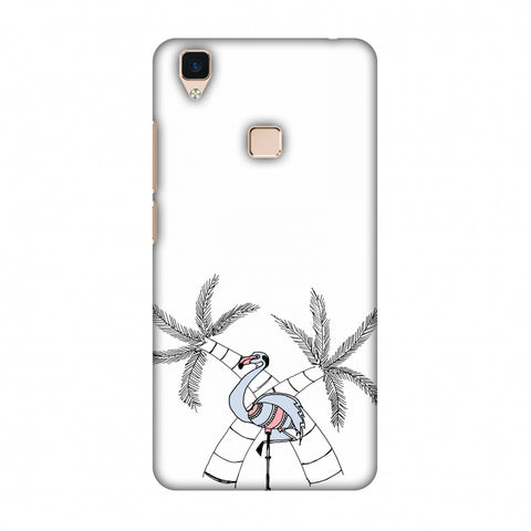 Flamingo And Palm Trees Slim Hard Shell Case For Vivo V3