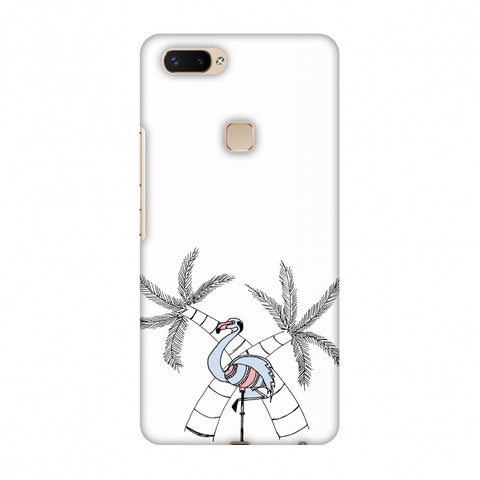 Flamingo And Palm Trees Slim Hard Shell Case For Vivo X20 Plus