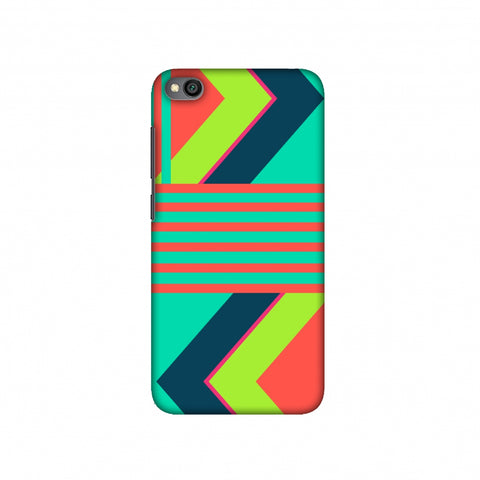 Aztec- Teal and coral Slim Hard Shell Case For Redmi Go