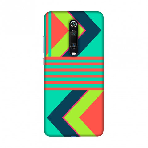 Aztec- Teal and coral Slim Hard Shell Case For Redmi K20/K20 Pro