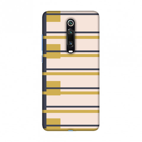 Blocking- Beige and mustard Slim Hard Shell Case For Redmi K20/K20 Pro