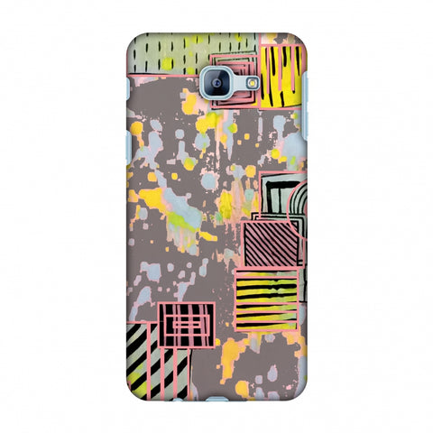Painted Blocks - Grey Slim Hard Shell Case For Samsung Galaxy A8 2016