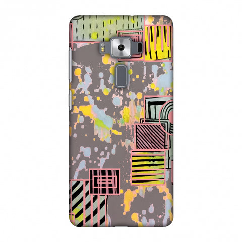 Painted Blocks - Grey Slim Hard Shell Case For Asus Zenfone 3 Deluxe ZS570KL