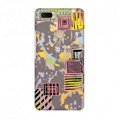 Painted Blocks - Grey Slim Hard Shell Case For Vivo X20 Plus