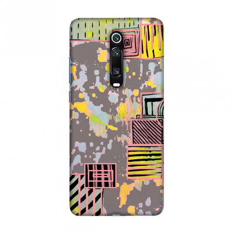 Painted blocks- Grey Slim Hard Shell Case For Redmi K20/K20 Pro