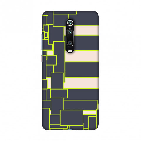Brick blocks- Beige and grey Slim Hard Shell Case For Redmi K20/K20 Pro