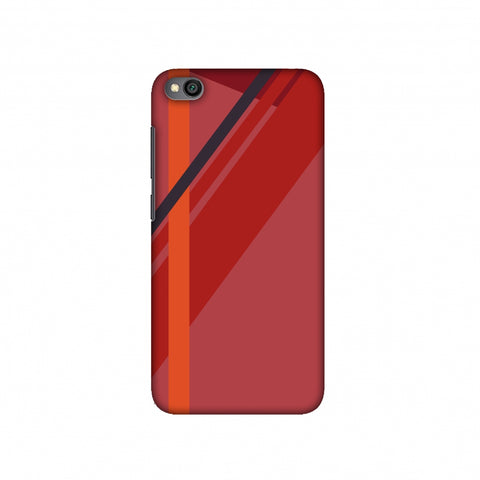 Candy stripes- Fierce red Slim Hard Shell Case For Redmi Go