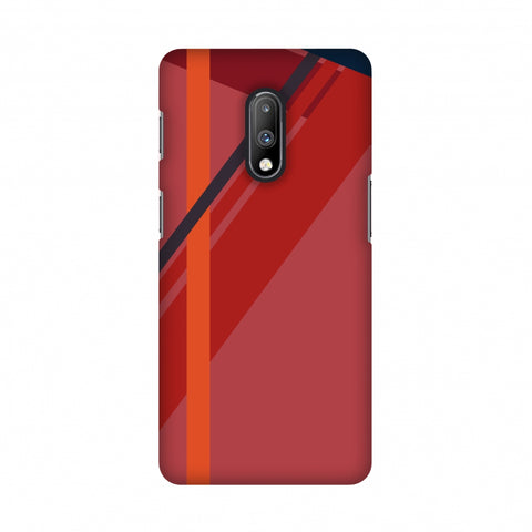 Candy stripes- Fierce red Slim Hard Shell Case For OnePlus 7