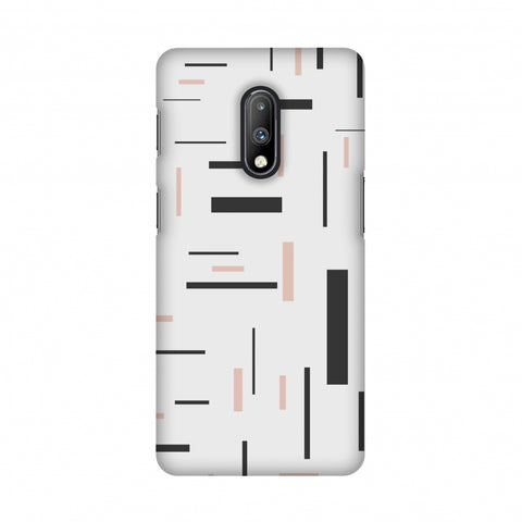 Capsules- Brown grey Slim Hard Shell Case For OnePlus 7