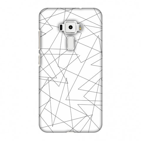 Criss Cross - Beige Slim Hard Shell Case For Asus Zenfone 3 ZE520KL