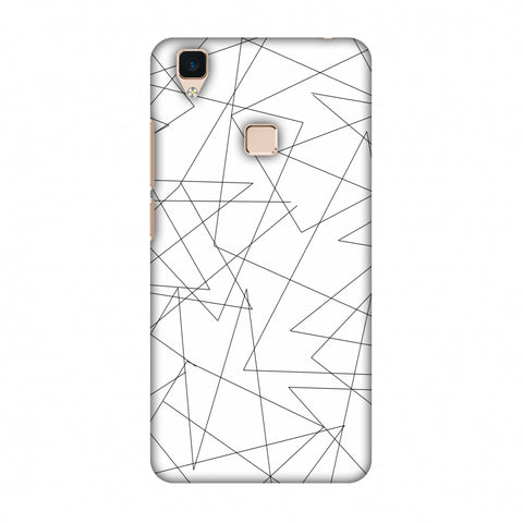 Criss Cross - Beige Slim Hard Shell Case For Vivo V3