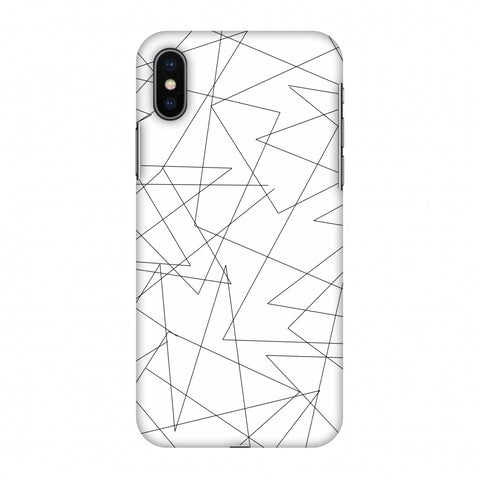 Criss Cross - Beige Slim Hard Shell Case For Apple iPhone X