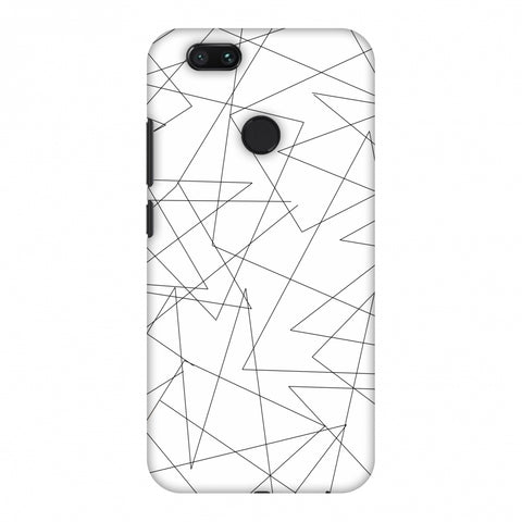 Criss Cross - Beige Slim Hard Shell Case For Xiaomi MI A1-5X