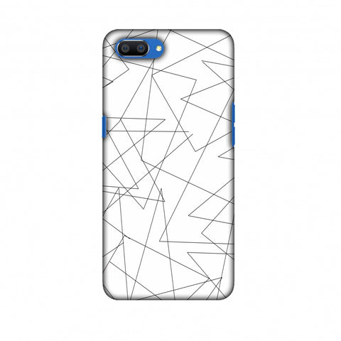 Criss Cross - Beige Slim Hard Shell Case For Oppo Realme C1