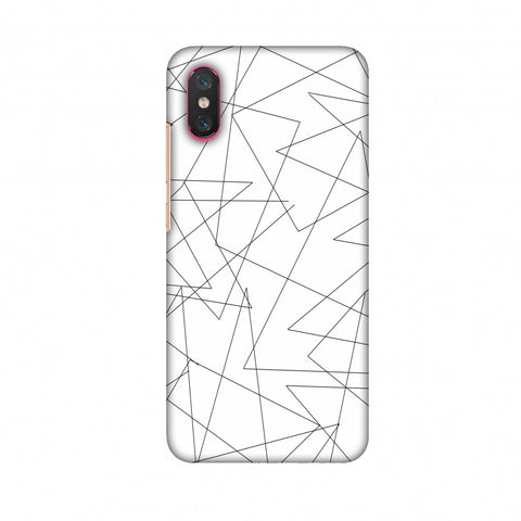 Criss Cross - Beige Slim Hard Shell Case For Xiaomi Mi 8 Pro