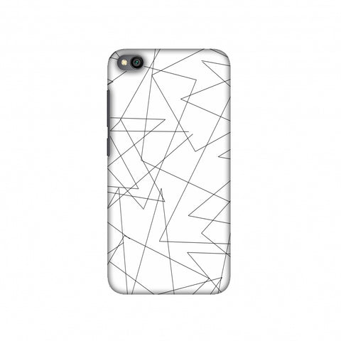 Criss Cross- Beige Slim Hard Shell Case For Redmi Go
