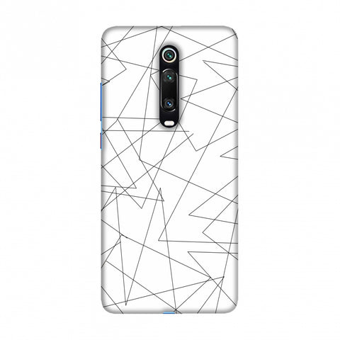 Criss Cross- Beige Slim Hard Shell Case For Redmi K20/K20 Pro