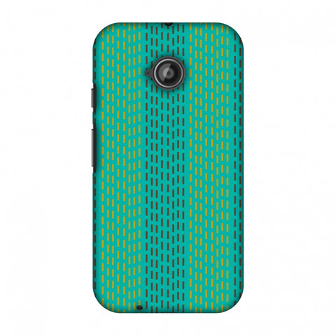 Kantha Geometric - Teal Slim Hard Shell Case For Motorola Moto E 2nd Gen