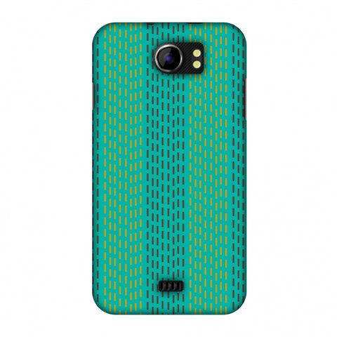 Kantha Geometric - Teal Slim Hard Shell Case For Micromax Canvas 2 A110