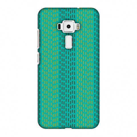 Kantha Geometric - Teal Slim Hard Shell Case For Asus Zenfone 3 ZE520KL
