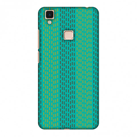 Kantha Geometric - Teal Slim Hard Shell Case For Vivo V3 Max