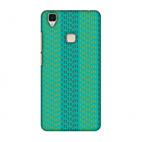 Kantha Geometric - Teal Slim Hard Shell Case For Vivo V3